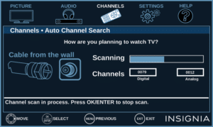 Auto Scan Not Finding Channels