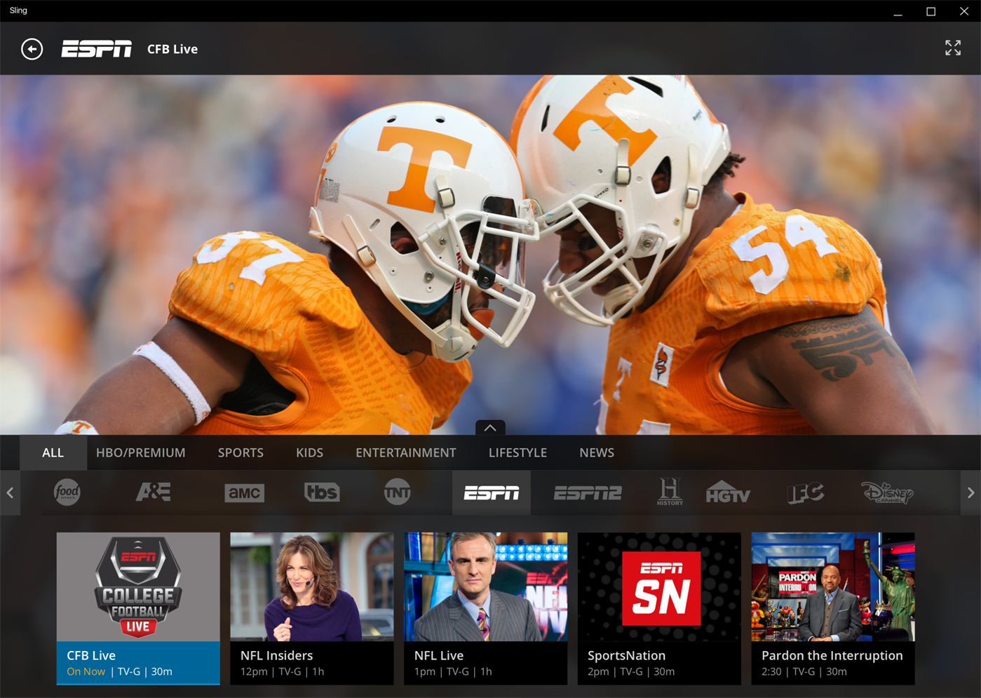 How to watch college football without cable